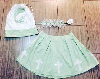 Cross Schoolgirl Skirt
