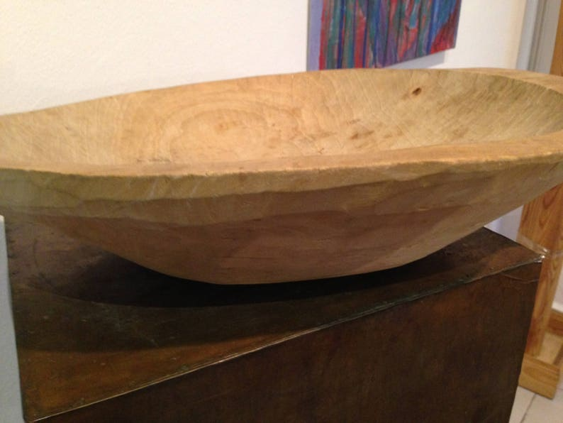 Antique Wooden Doughmeat Bowl Primitive Hand Carved Country CottageGrandma\u2019s kitchen Display cafe Antique Oval Natural Wood Dough Bowl