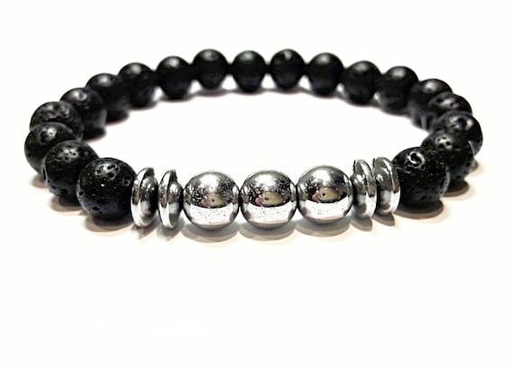 Lava Bead Bracelet Mens Lava Bracelet Lava Stone Bracelet Men Etsy