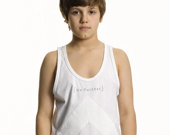 Go Further Tank Top, Long Cut in White