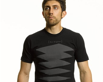Paragon T Shirt, Long Cut in Black