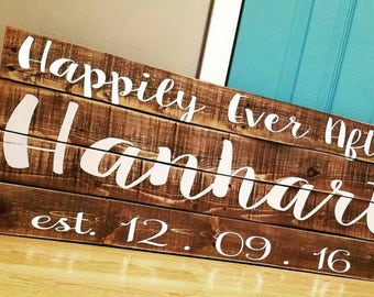 Wedding Gift - Bridal Shower Gift - Reclaimed Wood Pallet Sign - Wedding Sign - Wedding Decor - Bridal Shower Decor - Anniversary Gift