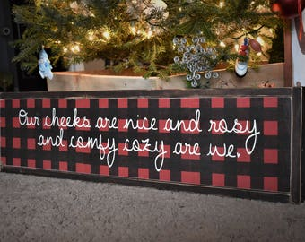 Christmas Sign - Farmhouse Christmas - Buffalo Plaid - Christmas Decor - Farmhouse Decor - Rustic Decor - Rustic Christmas Decor