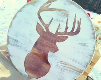 Christmas Deer - Reindeer Sign - Rustic Christmas - Farmhouse Christmas Decor - Rustic Christmas Sign - Deer Sign - Hunting Decor