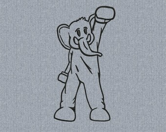 ColdPlay Paradise Elephant- Machine embroidery design - 2 size for instant download