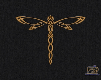 Dragonfly Machine embroidery design 3 sizes for instant download