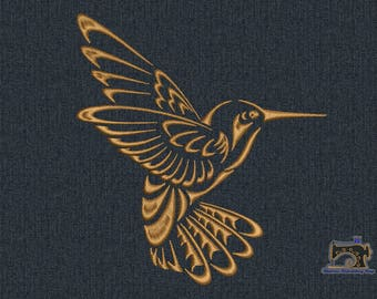 Hummingbird Machine embroidery design 3 sizes for instant download