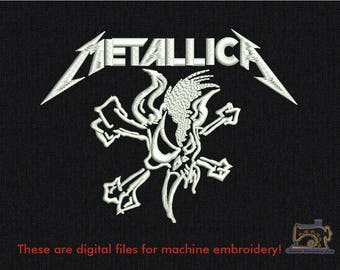 Metallica skull Machine embroidery design for instant download - 6 in size