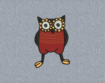 03 - Owl - Machine embroidery design - 2 sizes for instant download