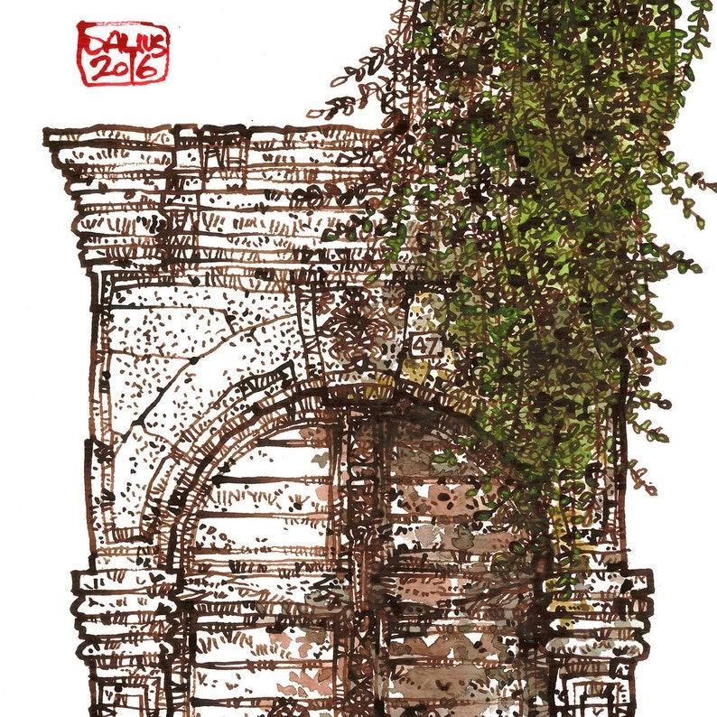 CRETAN DOOR 15 Rethymno Old Town Venetian Style Greek Door image 0