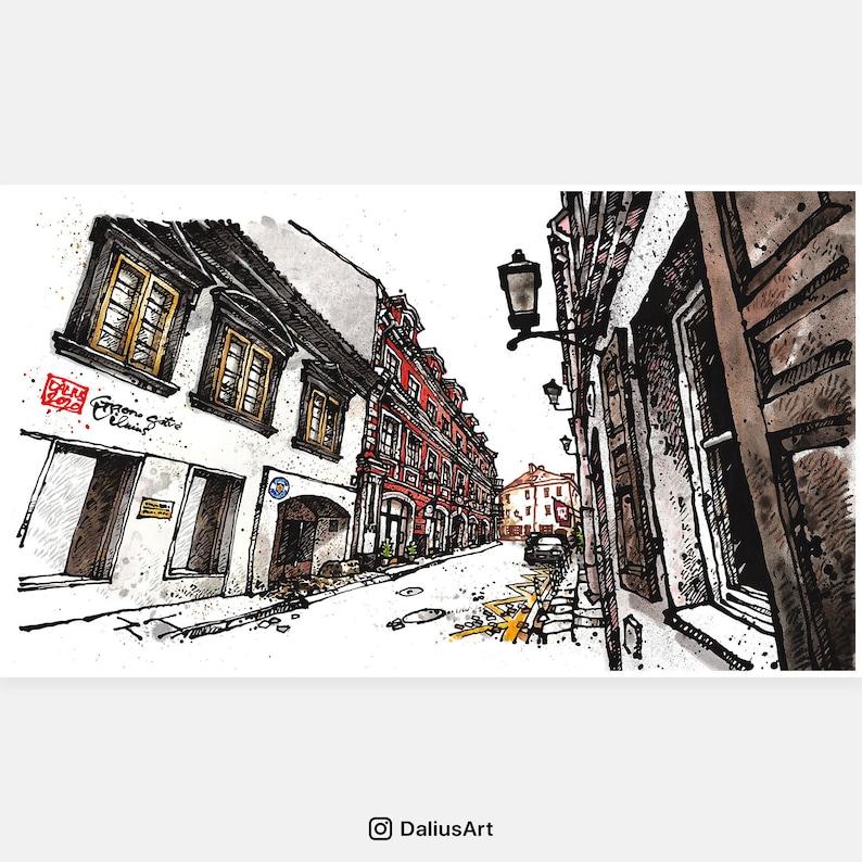 VILNIUS 05 Lithuania Gaono Street Fine Art Print Urban image 0