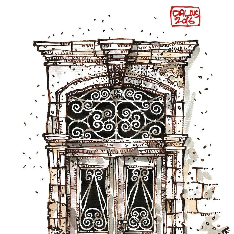 CRETAN DOOR 05 Chania Old Port Venetian Style Greek Door image 0