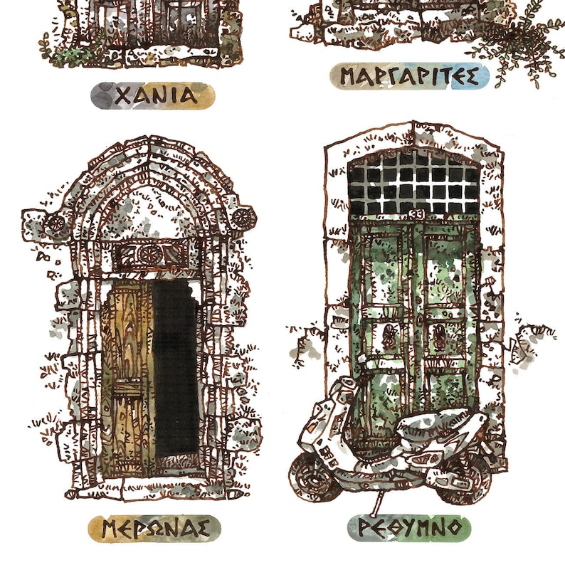 CRETAN DOOR 13 Old House Doors Venetian Style Greek Doors image 0