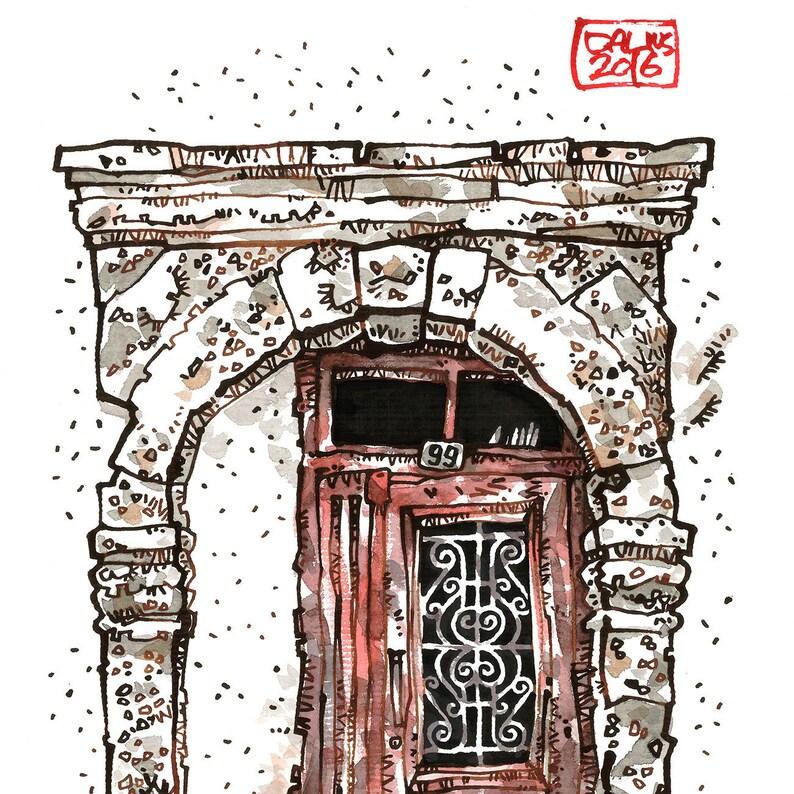 CRETAN DOOR 07 Rethymno Old Town Venetian Style Greek Door image 0