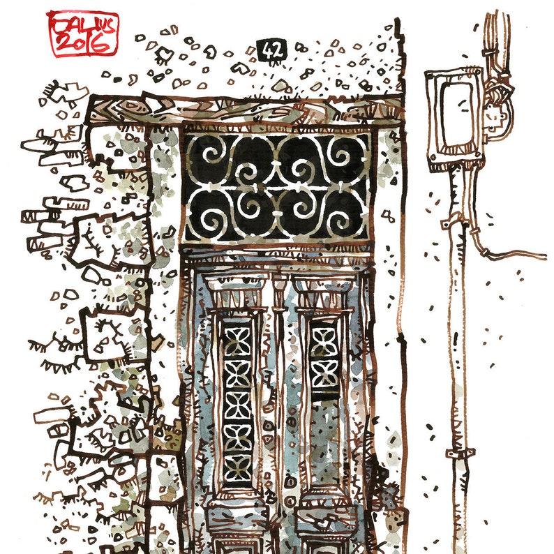 CRETAN DOOR 04 Chania Old Port Venetian Style Greek Door image 0