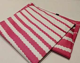Pink and White Ankara, Stripes fabric, African Wax Cotton fabric, African Wax Print, African Print, African Ankara, sold by the yard