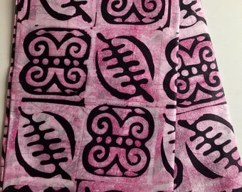 African print fabric, Aubergine Tribal Batik, African Wax Print, Tribal print, African Ankara, African Material, sold by the yard