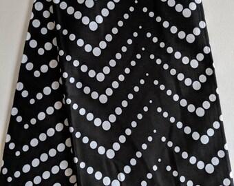 Black and White Ankara fabric, African Wax Cotton fabric, Polka dots fabric, African Print, African Ankara, Monochrome, sold by the yard