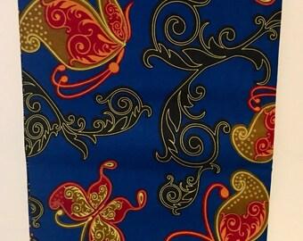 Ankara fabric, Butterfly fabric, African Wax Print, Holland Dutch Wax, African Material, Veritable Block Wax, sold by the yard