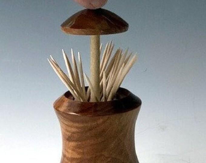Toothpick Holder -  Big Leaf Maple & Walnut