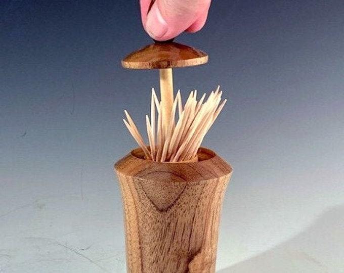 Toothpick Holder/Dispenser  English Walnut & Black Walnut