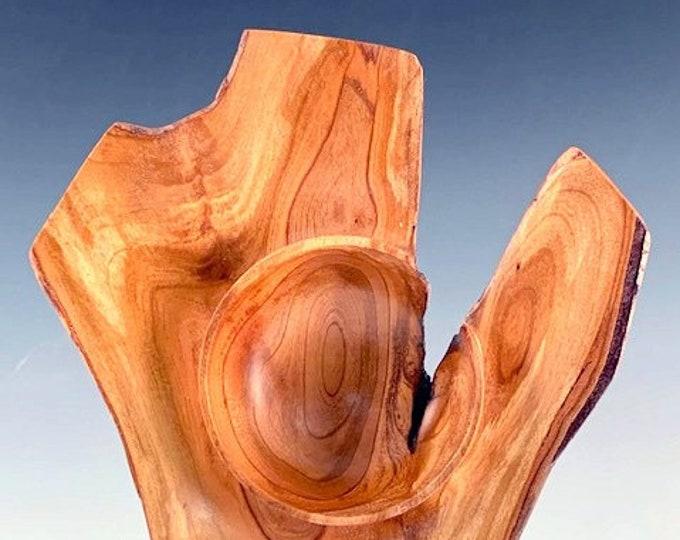 Natural Edge Winged Bowl - Decorative Art - Cherry Tree Crotch