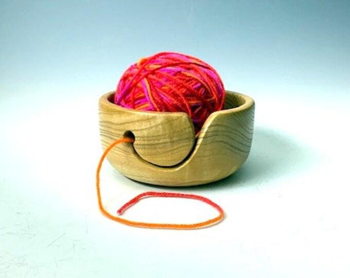 Ash Wood Yarn/Knitting Bowl