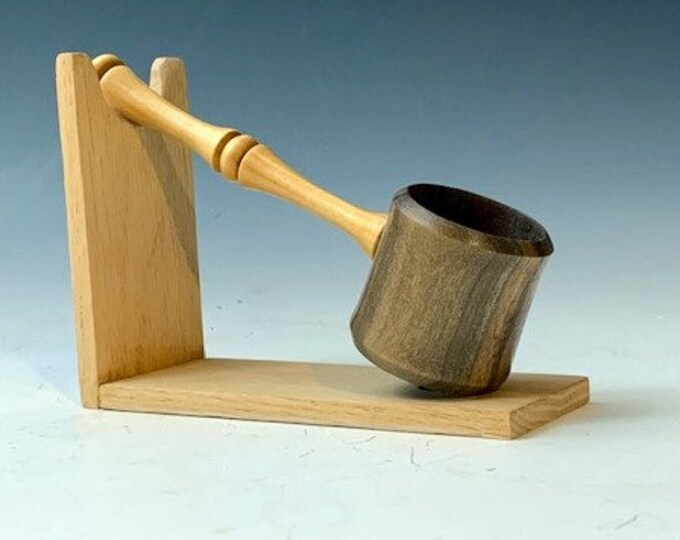 Handmade Wood Coffee Scoop - Black Walnut & Lilac wood