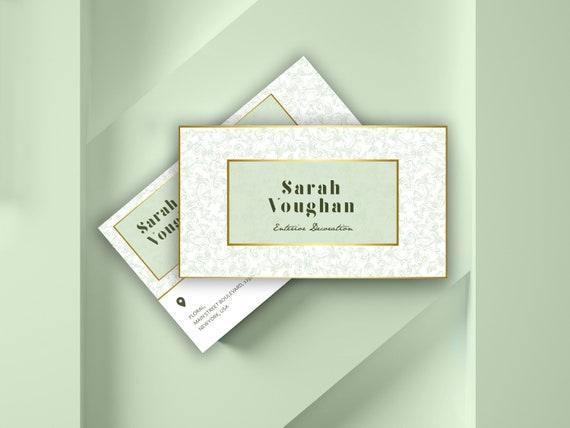 Kundenspezifische Visitenkarte Visitenkarte Luxus Hochzeit Blumen Moderne Kosmetik Einzigartige Schönheit Kreativ Lux