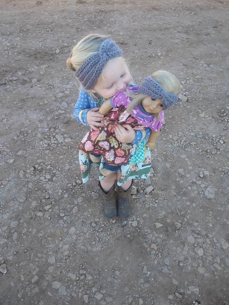 dolly /& me earwarmer Twisted earwarmer toddler earwarmer doll ear warmer