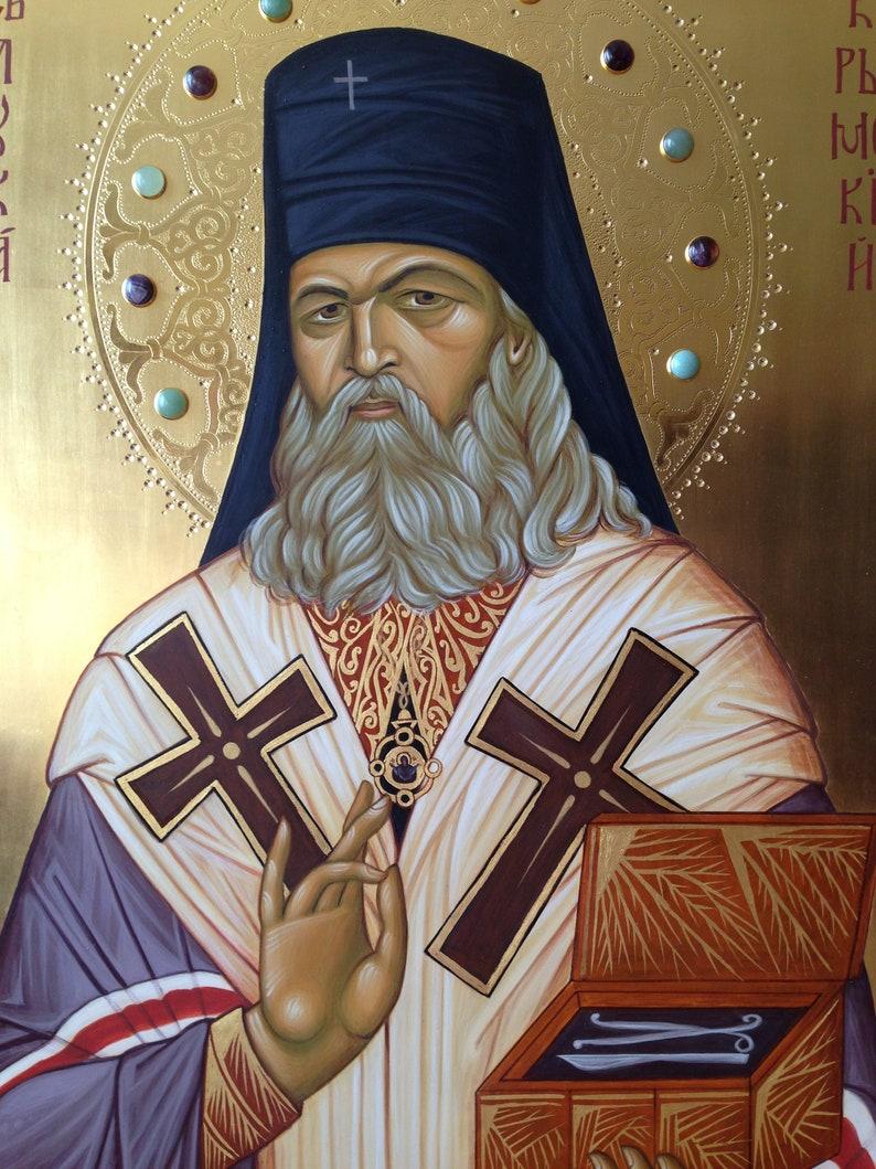 St Luke of Crimea Orthodox a large exquisite icon