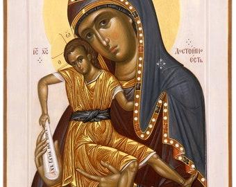 Mother Of God Orthodox icon Virgin Mary Theotokos orthodox icon catholic icon wood icon painting icon egg tempera byzantine icon