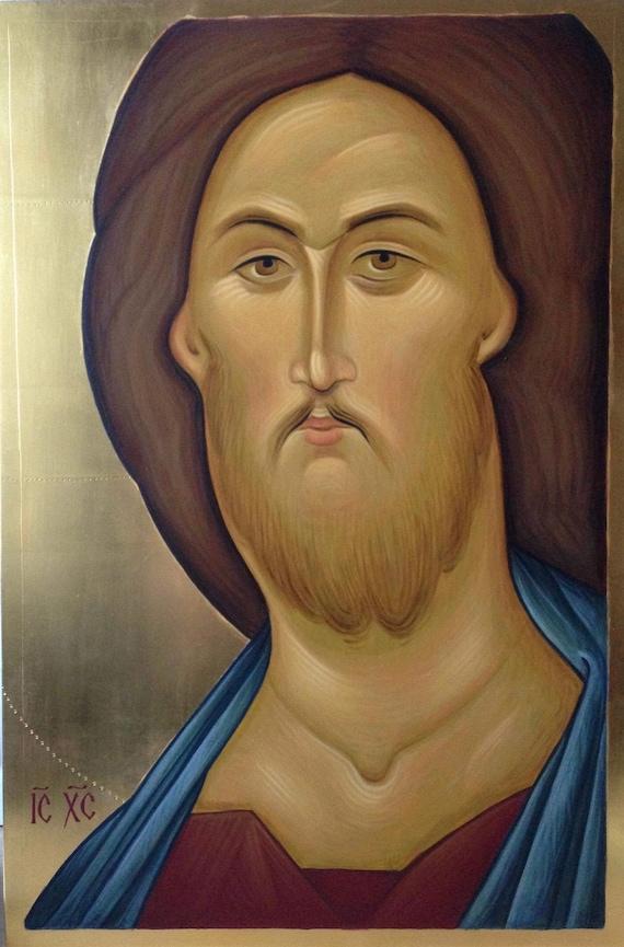Icona russa ortodossa GESU /'CRISTO Cristo il Redentore di Andrej Rublev