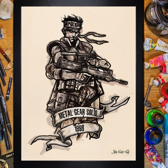 Metal Gear Solid 1 Solid Snake 1998 30x40 Poster
