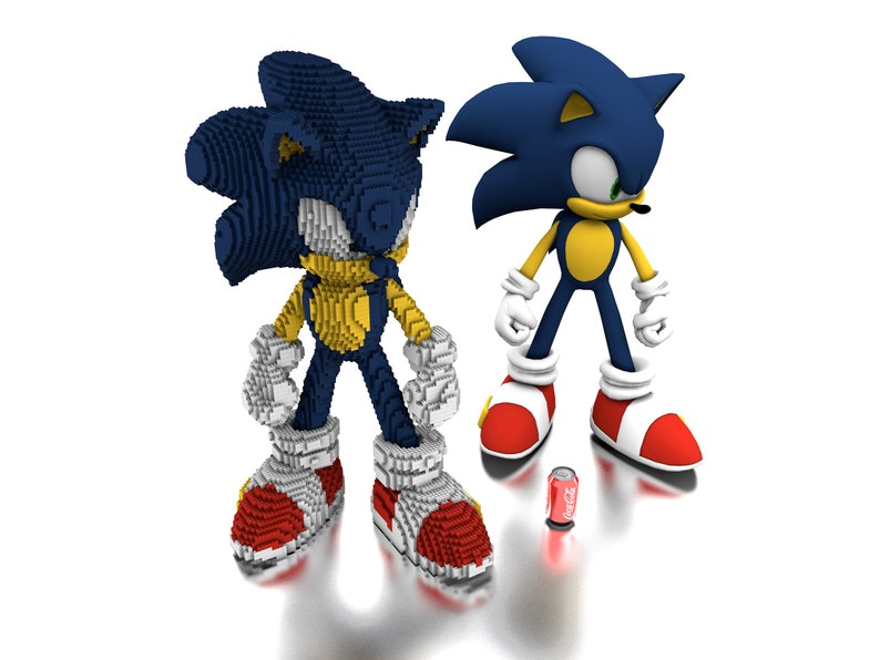 LEGO Sonic the Hedgehog statue building instruction