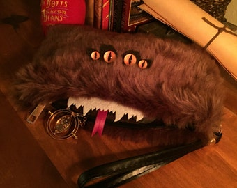 Monster Bag of Monsters! Perfect Potterhead gift. Handmade and exclusive design by Conjure Studio. Potter purse clutch handbag wallet