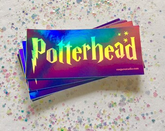 POTTERHEAD Holographic Sticker for Boy Wizard and Wizarding World Fans