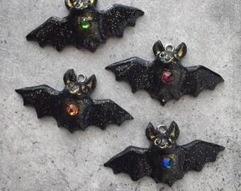 Cute Bat Pendants / Ornaments! Your choice of cord. bat necklace, charm, kawaii, ooak