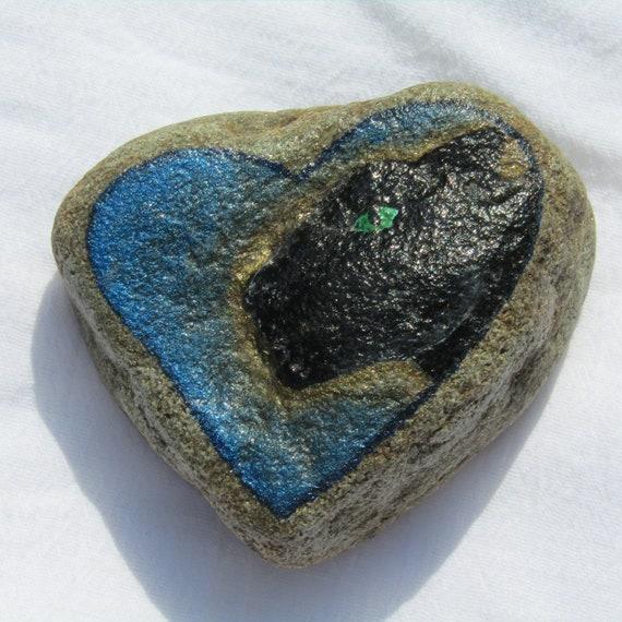 Black Panther Totem Heart Stone