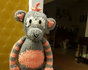 Monkey mania..hand knitted soft toys...perfect as a new born gift or baby shower