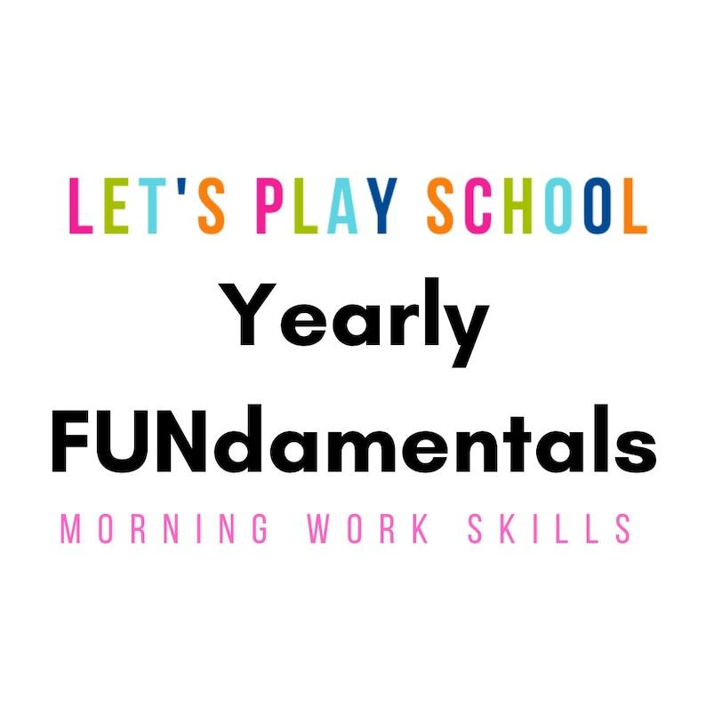 Let's Play School Yearly FUNdamentals  Preschool through image 0