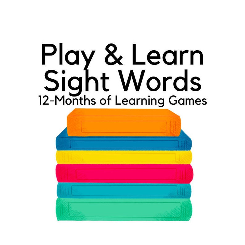 Play & Learn Sight Words  12 Months of Games  220 Dolch image 0
