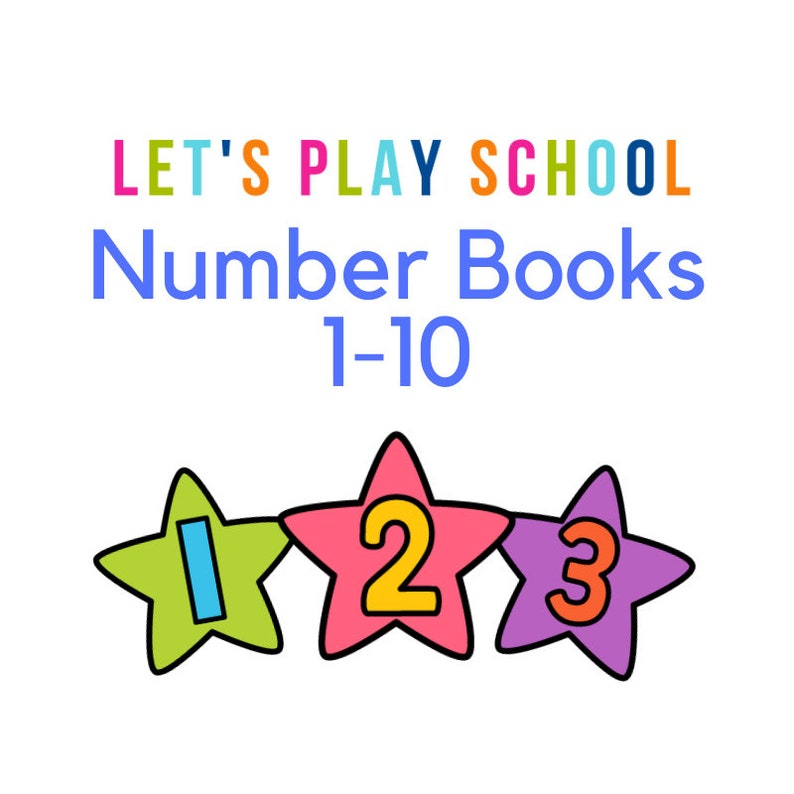 Number Books  Number Activity Books 1-10 image 0