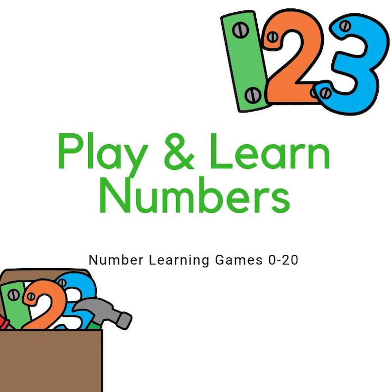 Play and Learn Numbers  13 Learning Games for numbers 0-20 image 0