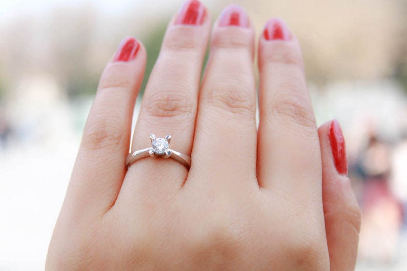 Rings Sterling Silver Engagement Rings Cz Engagement Rings Cubic Zirconia Engagement Rings Silver Wedding Rings Silver Engagement Rings