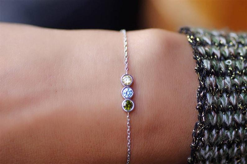 Birthstone Bracelet For Mom Birthstone Bracelet Bracelet For image 0