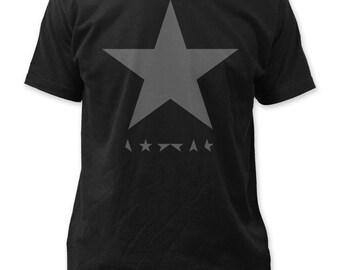 f0730f501 David Bowie Blackstar Soft Fitted 30/1 Cotton Jersey Tee - DB35(Black)