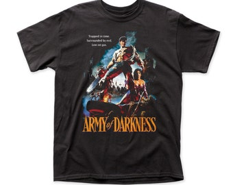 3b8617a1 Army Of Darkness Trapped In Time Traditional Fit 18/1 Cotton T-shirt -  ARMY02(Black)