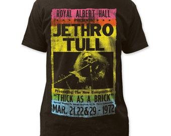 Jethro Tull Men/'s  Tour /'75 Slim Fit T-shirt Coal