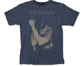 Joy Division Ian Curtis Soft 30/1 Men's Cotton Tee (JD08) Heather Navy